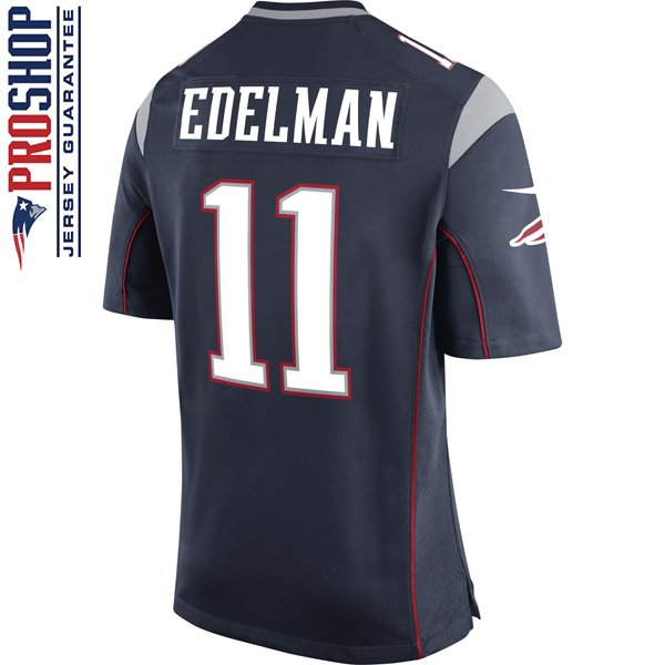 Nike Julian Edelman #11 Game Jersey Navy