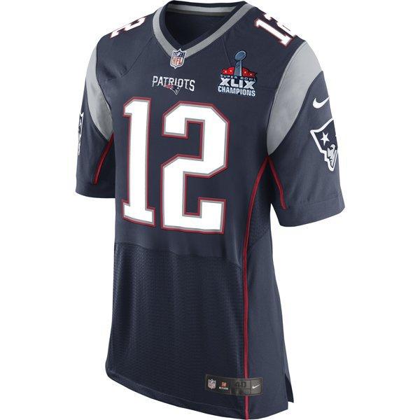 Nike Elite Tom Brady Jersey w/SB Patch-Navy