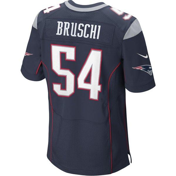 Nike Elite Tedy Bruschi #54 Jersey-Navy