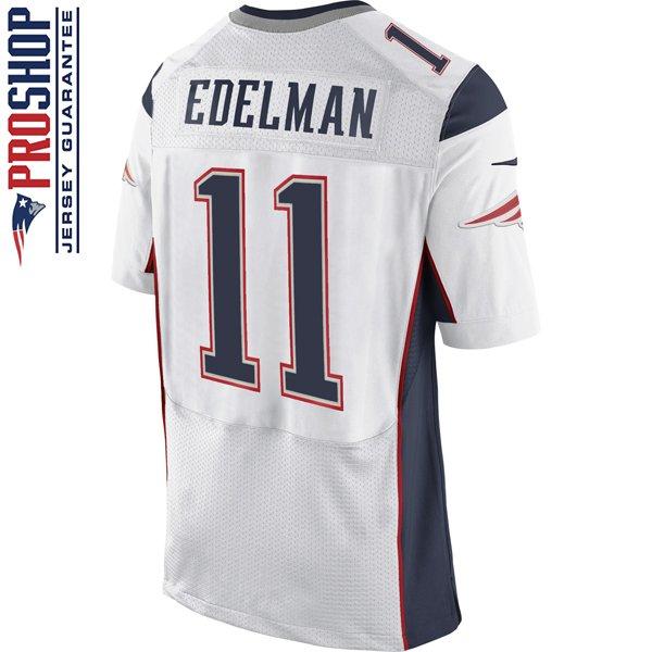 Nike Elite Julian Edelman #11 Jersey-White