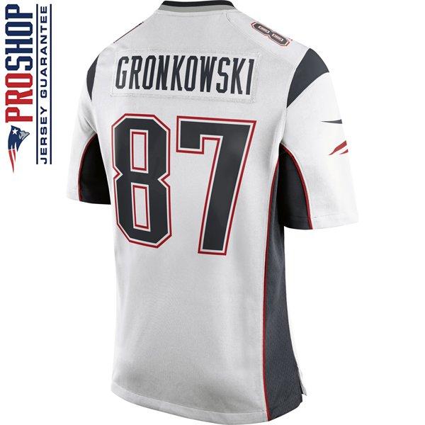 Nike Rob Gronkowski #87 Game Jersey-White