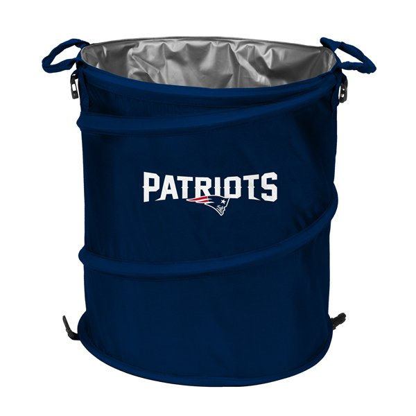 Patriots Trash Can Cooler-Navy