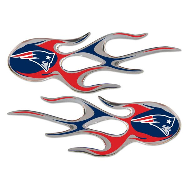 Patriots Micro Flame Decals-2pk