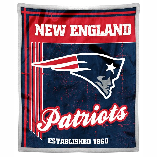 Patriots Mink 50x60 Sherpa Throw