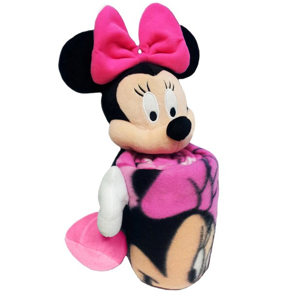 Minnie Mouse Hugger Pillow/Throw Set-Pink
