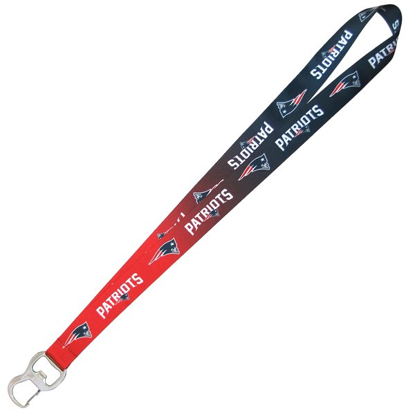 Patriots Ombre Lanyard/Bottle Opener