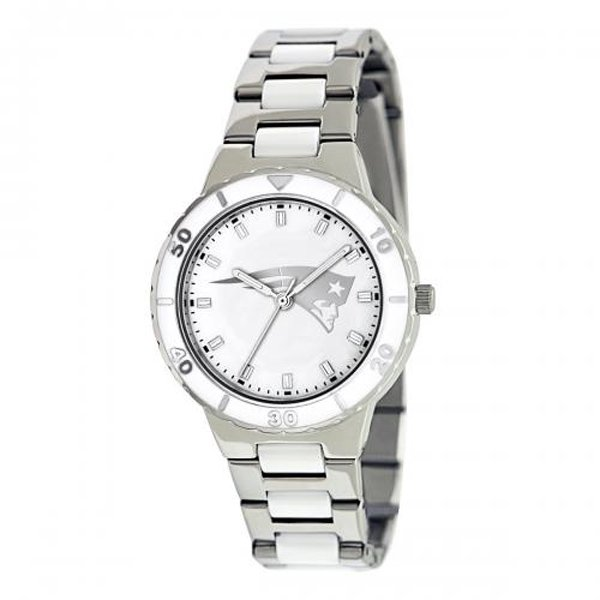 Patriots Pearl Watch-Silver Strap