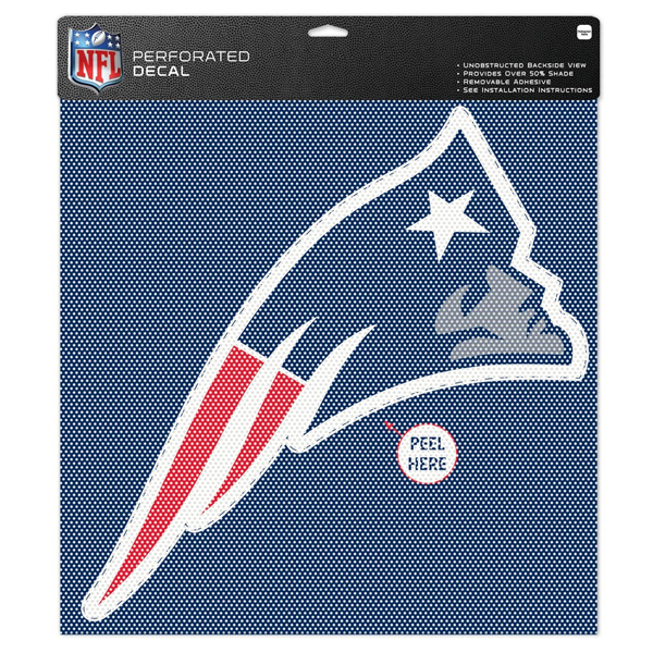 Patriots Perforated 17x17 Vinyl Decal