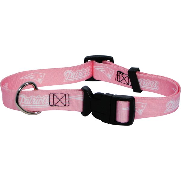 Patriots Pink Pet Collar