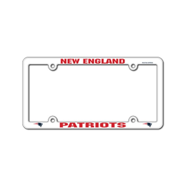 Patriots Plastic License Plate Frame