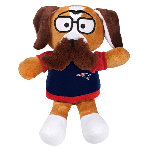 Patriots Plush Mustache Dog