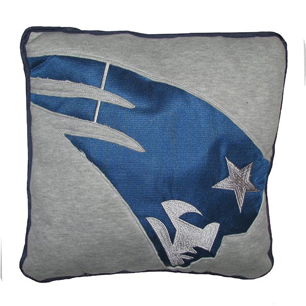 Patriots Reverse Applique Pillow