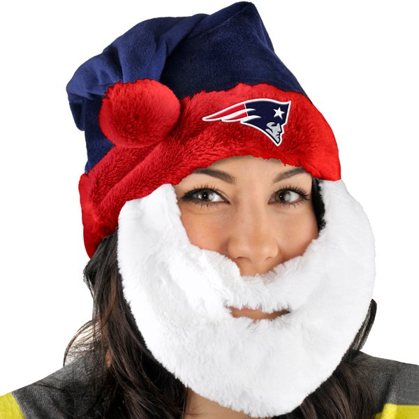 Patriots Santa Hat w/Beard