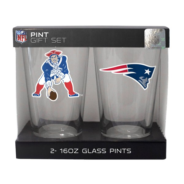 Dual Logo Elite 16oz Pint Glass-2pk