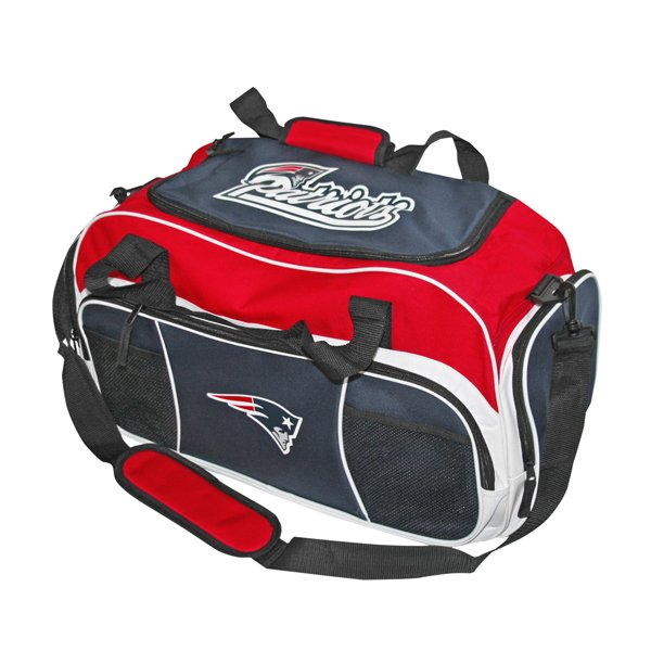 Patriots Tuck Duffel Bag-Navy/Red
