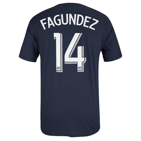 Fagundez #14 Name & Number Tee-Navy