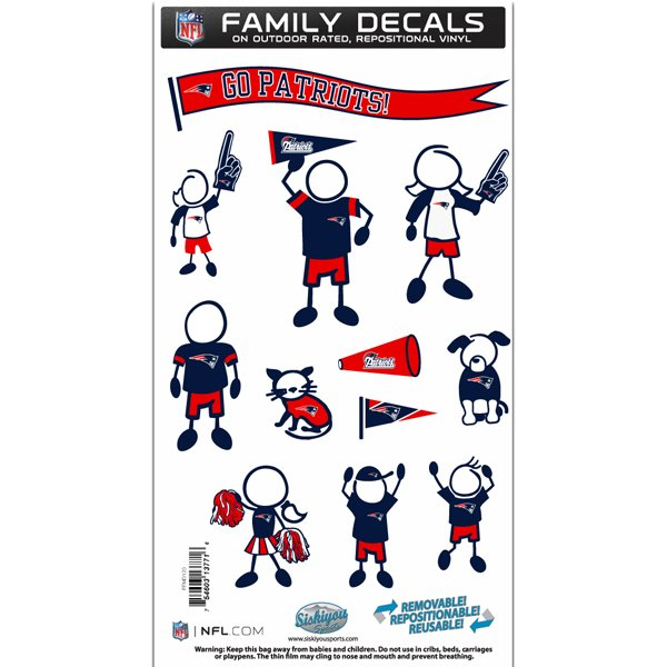 Patriots Family Car Decal Set