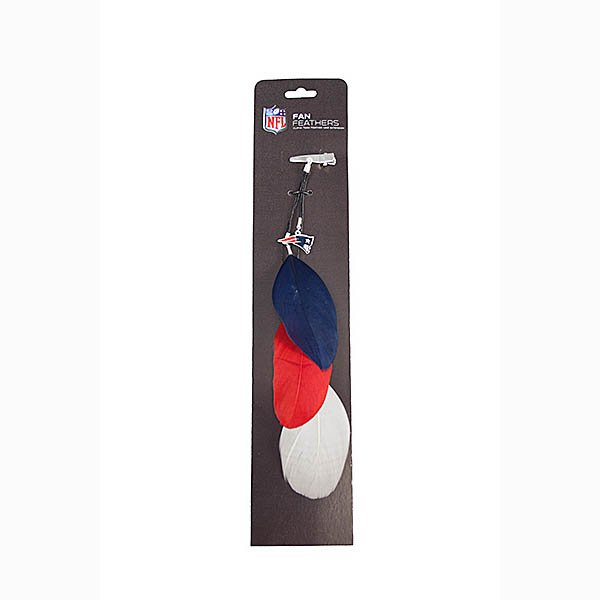 Patriots Fan Feather Hair Clip