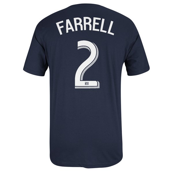 Farrell #2 Name & Number Tee-Navy