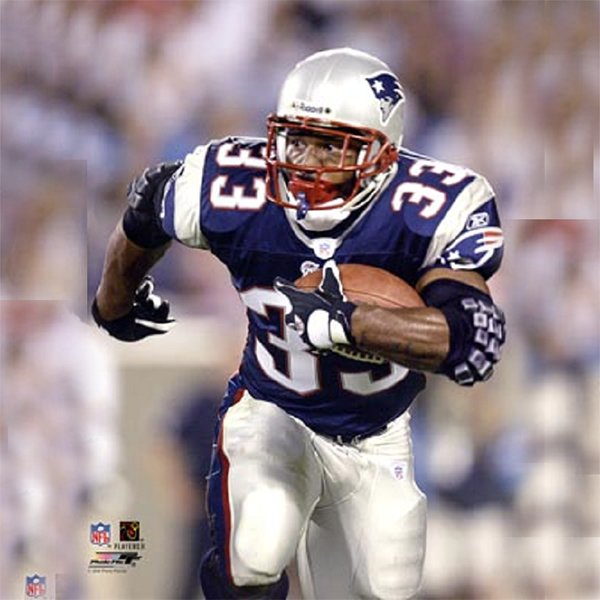 Kevin Faulk 8x10 Carded Photo