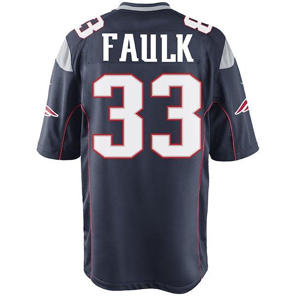 Nike Kevin Faulk #33 Game Jersey-Navy