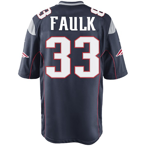 Nike Kevin Faulk #33 Game Jersey-Navy