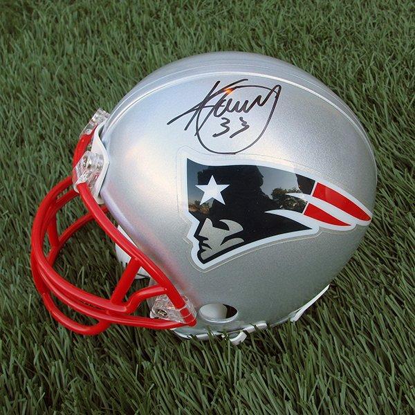 Kevin Faulk Autographed Mini Helmet