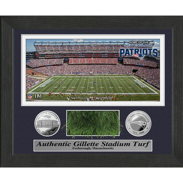Patriots Field Turf Framed Photo 9x11