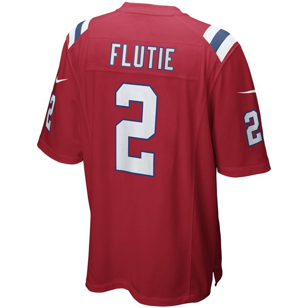 Nike Doug Flutie #2 Throwback Game Jersey-Red