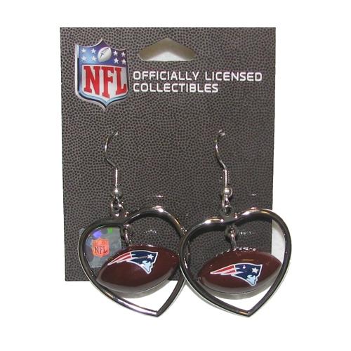 Football Heart Dangle Earrings