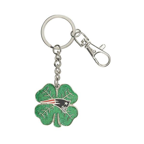 Patriots Four Leaf Clover Key Chain