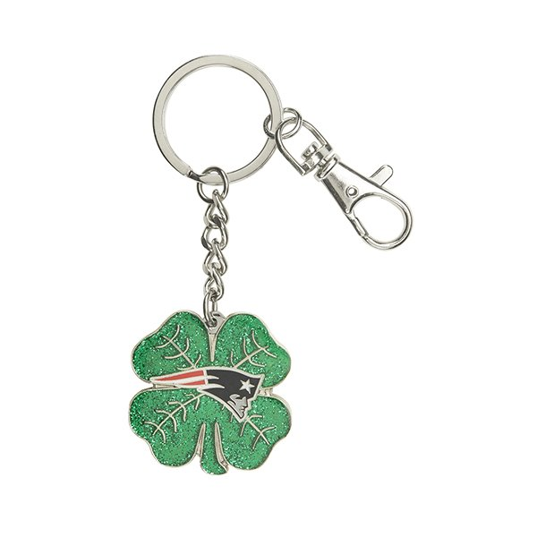 Patriots Four Leaf Clover Key Chain