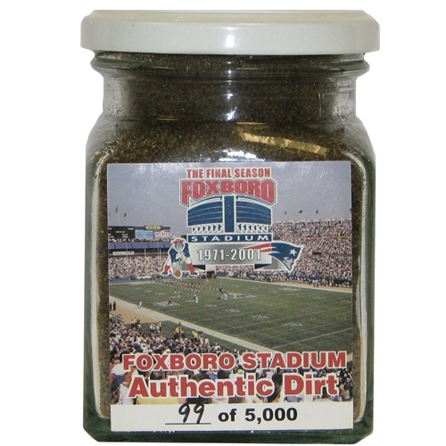 Authentic Foxboro Stadium Field Dirt