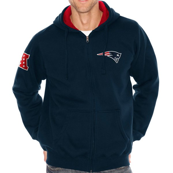 G-III Sherpa Lined Full Zip Hood-Navy