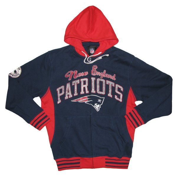GIII Grand Slam Full Zip Hood-Navy/Red