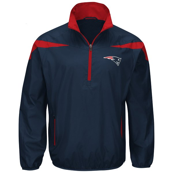 G-III Tailback 1/4 Zip Jacket-Navy/Red