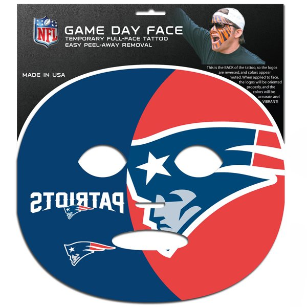 Patriots Game Day Face Tattoo