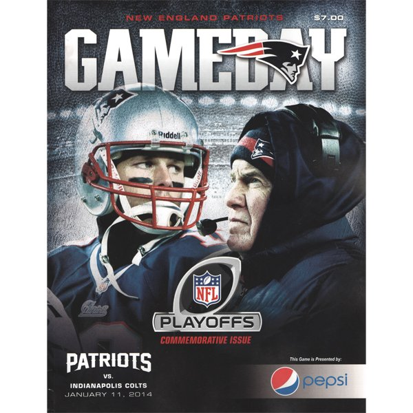 Patriots vs Colts Playoff Game Day Magazine - Jan 11, 2014