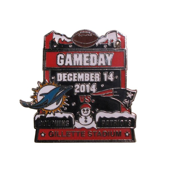 Patriots/Dolphins Game Day Pin 12/14/14