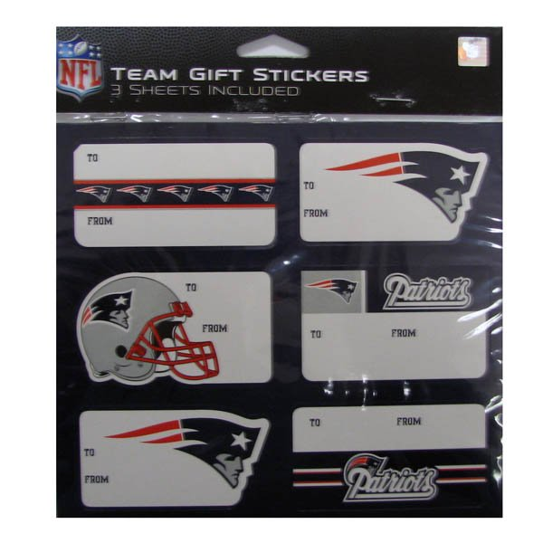 Patriots Gift Tag 6 Sticker Sheet