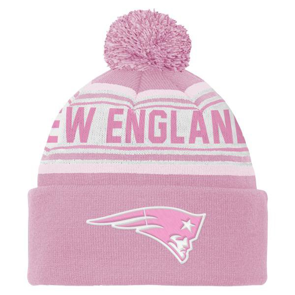 Girls Cuffed Pom Knit-Pink