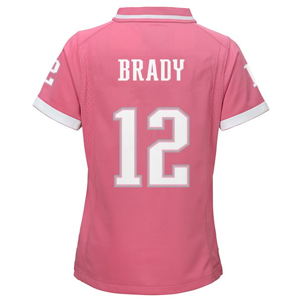 Girls Nike Tom Brady Jersey-Pink