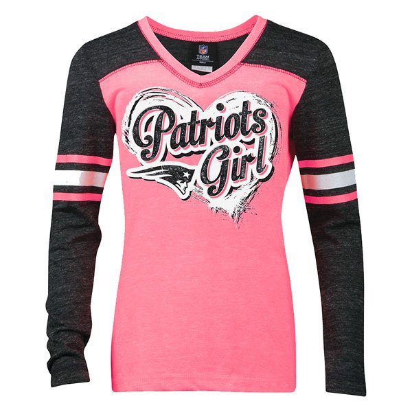 Girls Triblend V-neck Long Sleeve Tee