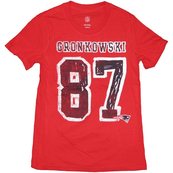 Girls Gronkowski Name & Number Tee-Red