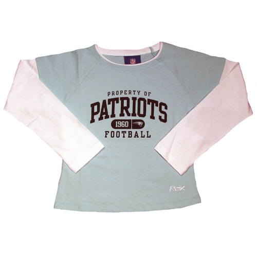 Girls L/S Layered Tee-LiteBlue