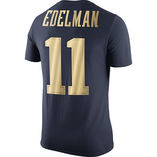 Nike Gold Championship Drive Edelman Name & Number Tee-Navy