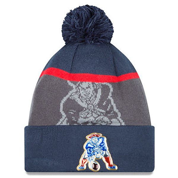 New Era Throwback Gold Collection On Field Knit Hat-Navy/Gray
