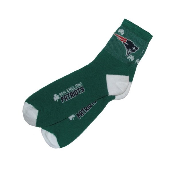Shamrock Quarter Socks-Green