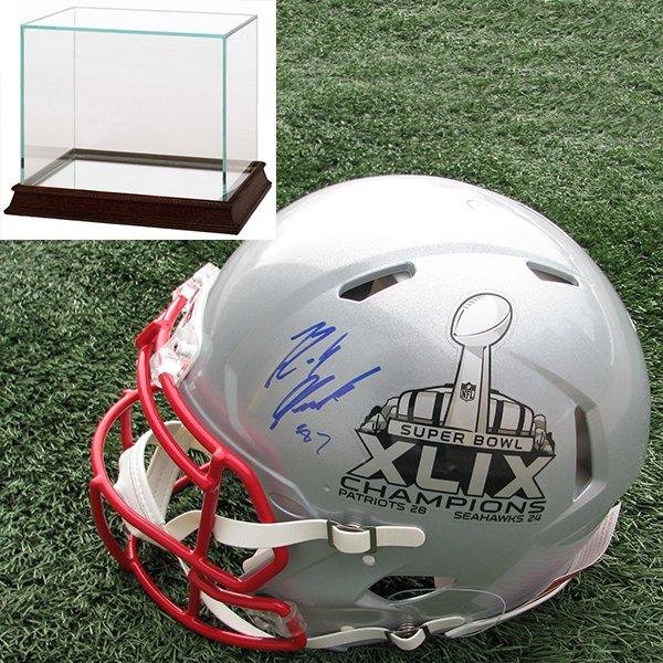 Autographed Rob Gronkowski Authentic Super Bowl XLIX Speed Helmet w/Case