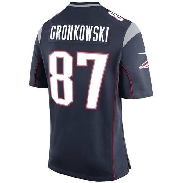 Youth Nike Rob Gronkowski Game Jersey-Navy